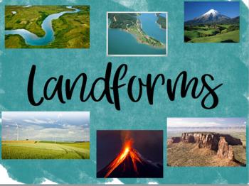 Landforms Flipchart and Activities