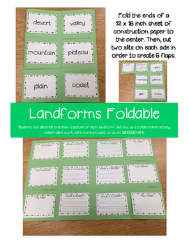 Landforms Foldable