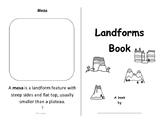 Landforms - Foldable Booklet - Color, Cut and Paste