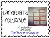 Landforms Foldable Freebie