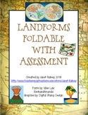 Landforms Foldable with Assessment