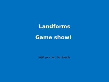 Landforms Game Show