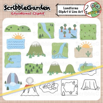 Landforms Geography ClipArt