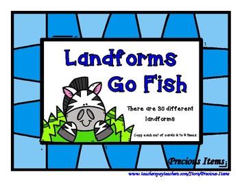 Landforms Go Fish Game