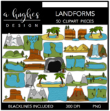 Landforms Clipart {A Hughes Design}