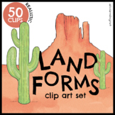 Landforms Clip Art Set