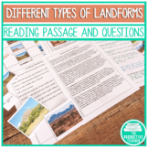 Landforms Workshop Activity and Reading Passage