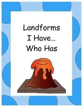 Landforms I have...who has