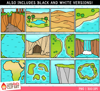 landforms ii clip art by littlered teachers pay teachers rh teacherspayteachers com basin landform clipart landform clipart free