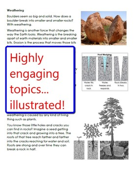 Landforms Informational Reading Selections and Questions for Grades 3-5