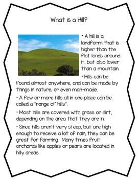 Landforms Informational Readings