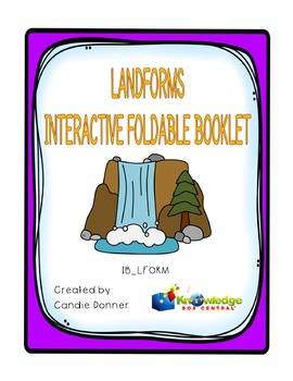 Landforms Interactive Foldable Booklet