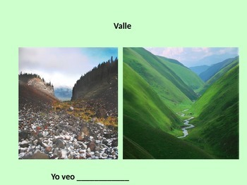 Landforms Introductory Presentation - Spanish