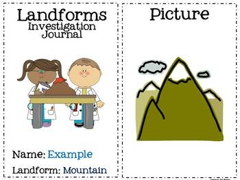 Landforms Investigation Journal (Research Project Supplement)