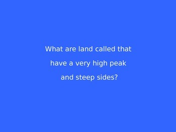 Landforms Jeopardy Review Game