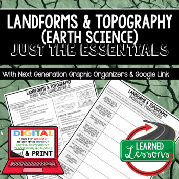 Landforms Just the Essentials Content Next Generation Science, with Google