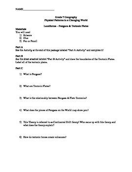 Landforms Lesson 1 Handout
