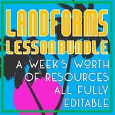 Landforms Lesson Bundle