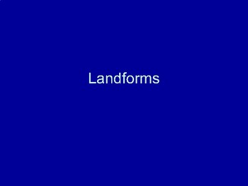 Landforms Lessons Packet