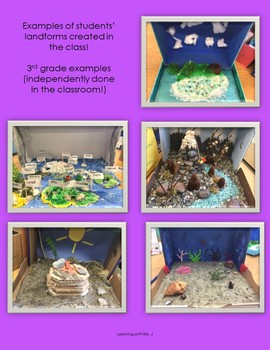 Landforms Maker Space Project (with Literature/SS)