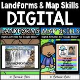 Landforms & Map Skills Digital Activities for Google Slides™ BUNDLE