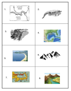 Landforms Match Up and Foldable