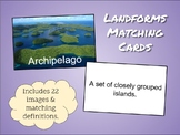 Landforms Matching Cards