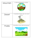 Landforms Matching Vocabulary Cards