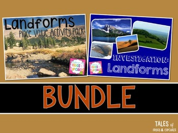 Landforms Math and Science Bundle