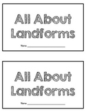 Landforms Mini-Book
