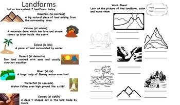 Landforms Mini lesson