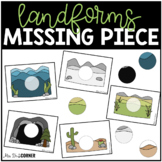 Landforms Missing Pieces Task Box | Task Boxes for Special