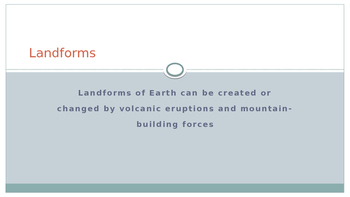 Landforms, Mountains and Volcanoes