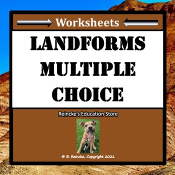 Landforms Multiple Choice Worksheets (Test Prep)
