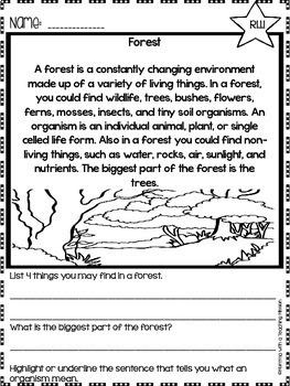 Landforms Non-fiction Comprehension Passages
