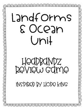 Landforms & Oceans Headbandz Review Game