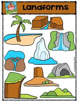 Landforms {P4 Clips Trioriginals Digital Clip Art}