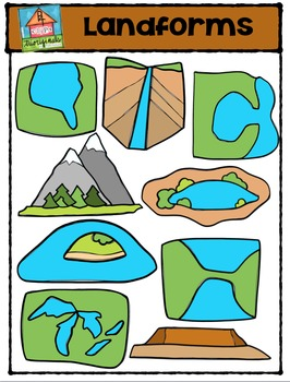 landforms p4 clips trioriginals digital clip art by p4 clips rh teacherspayteachers com