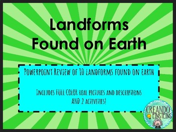 Landforms PPT with Activities for Elementary