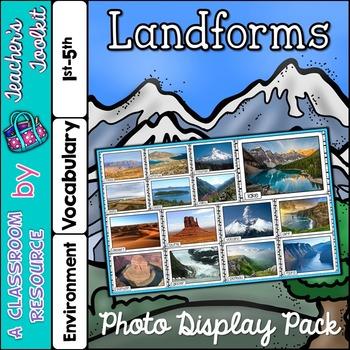 Landforms Photo Poster Display Pack {UK Teaching Resource}