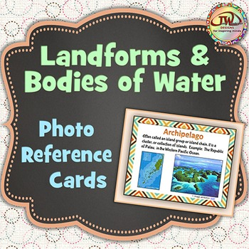 Landforms Photo Reference Cards