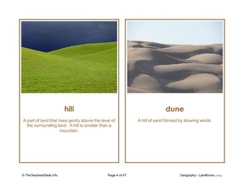 Landforms Picture Activity Cards