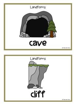 Landforms Picture Cards