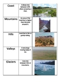 Landforms Picture Matching Activity