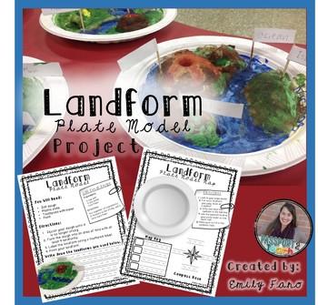 Landforms: Plate Model Project FREEBIE