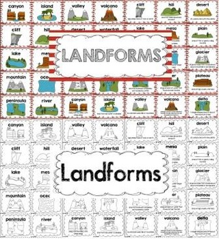 Landform Posters and Task Cards