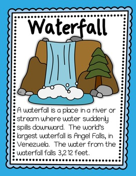 Landforms and Bodies of Water Posters