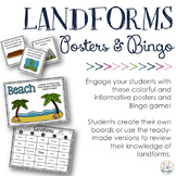 Landforms Posters & Bingo Game