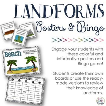 Landforms Posters & Bingo Game