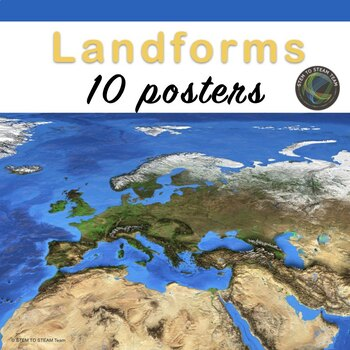 Landforms Posters - Set of 10